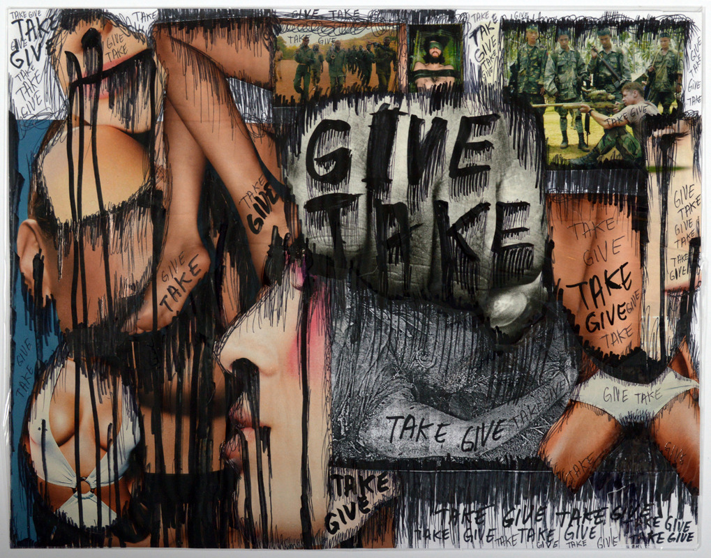 <p>Thomas Hirschhorn. <i>Series KS-46</i>. 2002. Collage and ink drawing on paper with synthetic polymer sheet. Henry Art Gallery, gift from the Collection of Steven Johnson and Walter Sudol, 2010.150.</p>