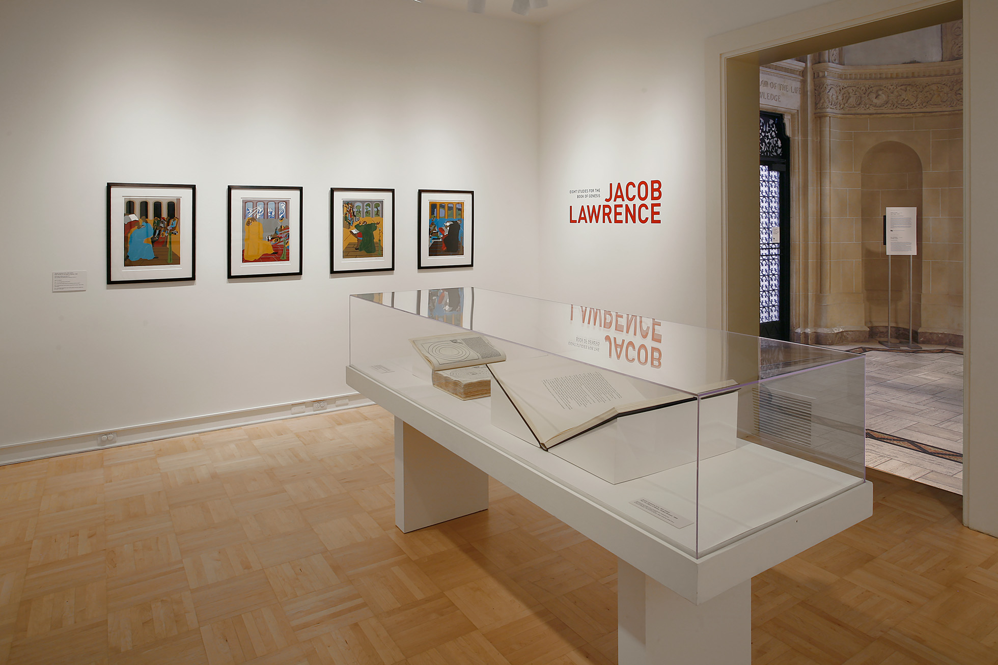 <p><i>Jacob Lawrence: Eight Studies for the Book of Genesis</i> [installation view]. 2017. Henry Art Gallery, University of Washington, Seattle. Photo credit: Mark Woods.</p>