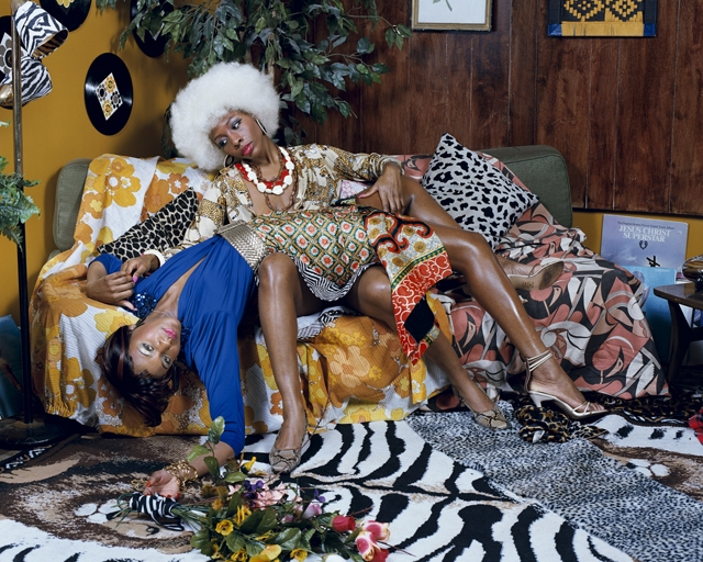 <p>Mickalene Thomas. <i>La leçon d'amour.</i> 2008. © Mickalene Thomas. Courtesy of the artist; Lehmann Maupin, New York and Hong Kong; and Artists Rights Society (ARS), New York.<br /></p>