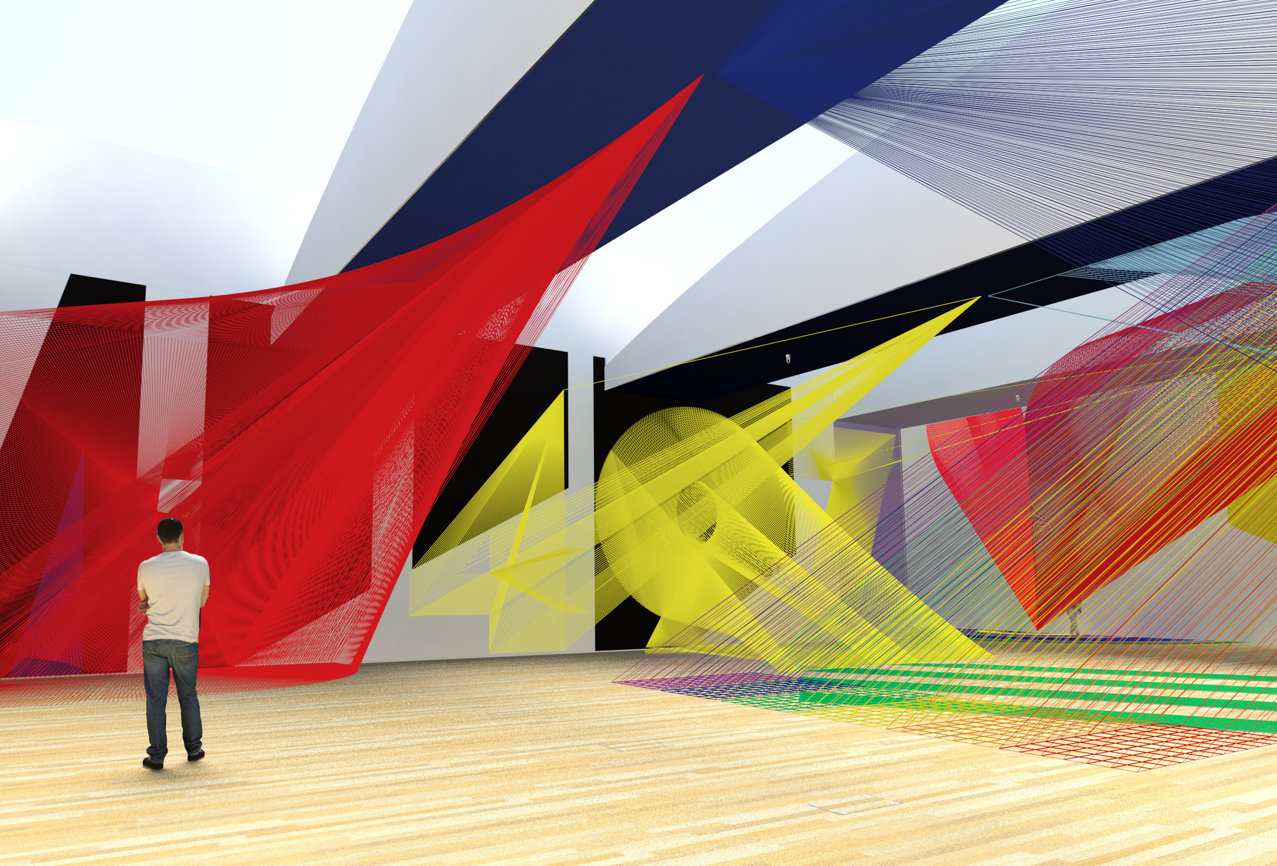 <p>Pae White. Digital rendering of the installation <i>Command-Shift-4</i>. Courtesy of the artist.</p>