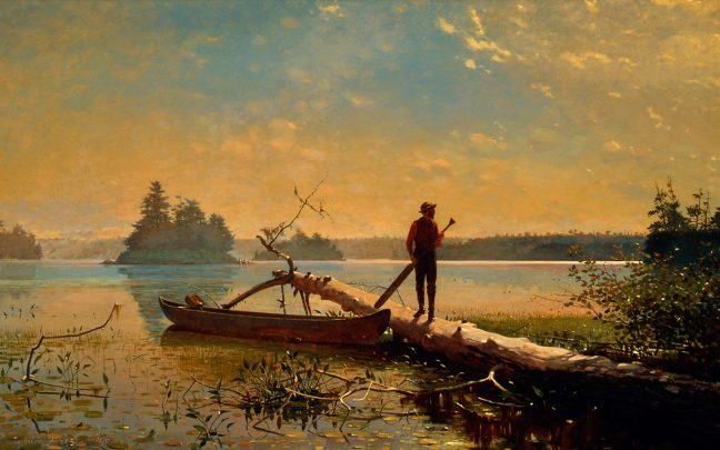 Winslow Homer. An Adirondack Lake