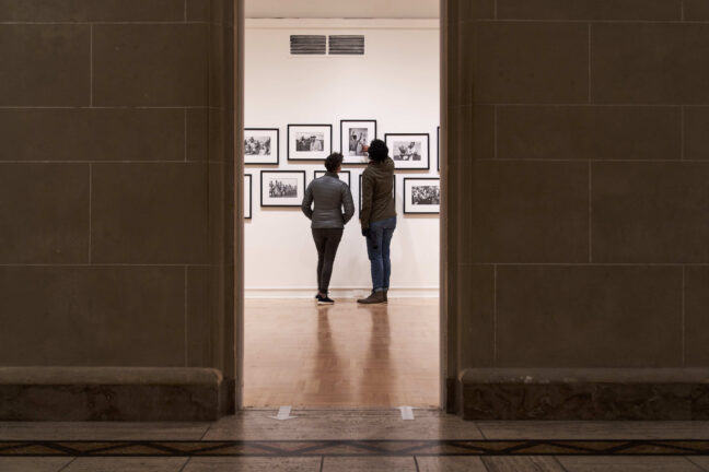 <p>Installation view of&nbsp;<em>Illustrating Injustice: The Power of Prin</em>t, 2021, Henry Art Gallery, University of Washington, Seattle. Photo:&nbsp;Jonathan Vanderweit.</p>