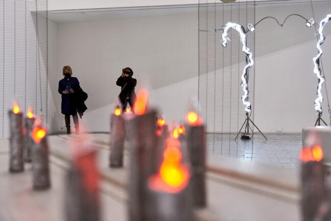 <p>Elaine Cameron-Weir. Installation view of <em>Elaine Cameron-Weir: STAR CLUB REDEMPTION BOOTH</em>, 2021, Henry Art Gallery, University of Washington, Seattle. Photo: Jonathan Vanderweit.</p>