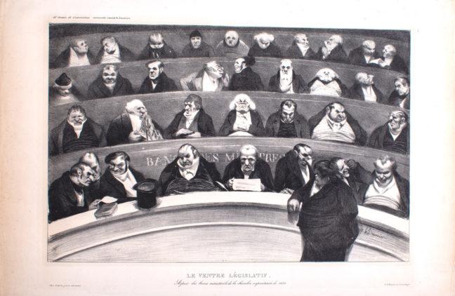 <p>Honoré Daumier, <em>Le Ventre Législatif</em>, Henry Art Gallery, Gift of Albert A. Feldmann, 2018.357.  </p>