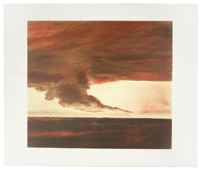 <p>April Gornik, <em>Whirlwind</em>, 1994. Lithograph on handmade paper. Henry Art Gallery, gift of Burt and Jane Berman, 2002.29. &copy; April Gornik.</p>