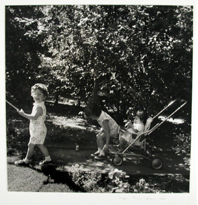 <p><p>Imogen Cunningham, untitled (Children Playing), 1959. Gelatin silver print. Henry Art Gallery, gift of Gryffyd and Janet Partridge, in memory of Imogen Cunningham, 96.6.&nbsp;</p><p>Balancing her identities as an artist and mother of three boys, Cunningham focused on subjects within her home&mdash;her children and backyard&mdash;in her earlier work. This image of children playing in the garden marks Cunningham's return to a familiar theme, and perhaps guides us to find inspiration as we continue to stay at home.<br></p> <p></p></p>