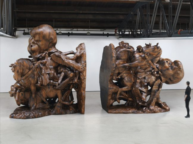 <p>Paul McCarthy. <i>White Snow, Bookends,</i> 2013. Black walnut. Courtesy the artist and Hauser &amp&#x3B; Wirth. Photo: Genevieve Hanson.</p>