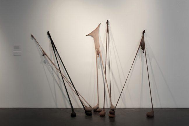 <p>Senga Nengudi. <em>Untitled </em>(<em>R.S.V.P.)</em> 2013. [Installation view of <em>Senga Nengudi: The Material Body</em> at&nbsp&#x3B;The Museum of Contemporary Art Denver,&nbsp&#x3B;2014.]. All works &copy&#x3B; Senga Nengudi. Photograph courtesy MCA Denver &copy&#x3B; Ron Pollard.<br></p>