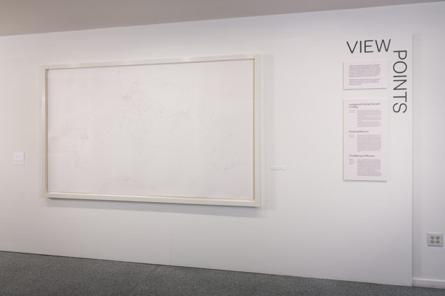 <p><i>Viewpoints: Emma Kay, The World From Memory II</i> [installation view]. 2013. Henry Art Gallery. Photo Credit: R.J. Sánchez</p>