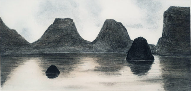 <p>April Gornik,&nbsp;<em>Desert Lake</em>, 1993. Soft-ground etching and aquatint on Japanese paper. Henry Art Gallery, gift of Burt and Jane Berman, 2001.191.</p>