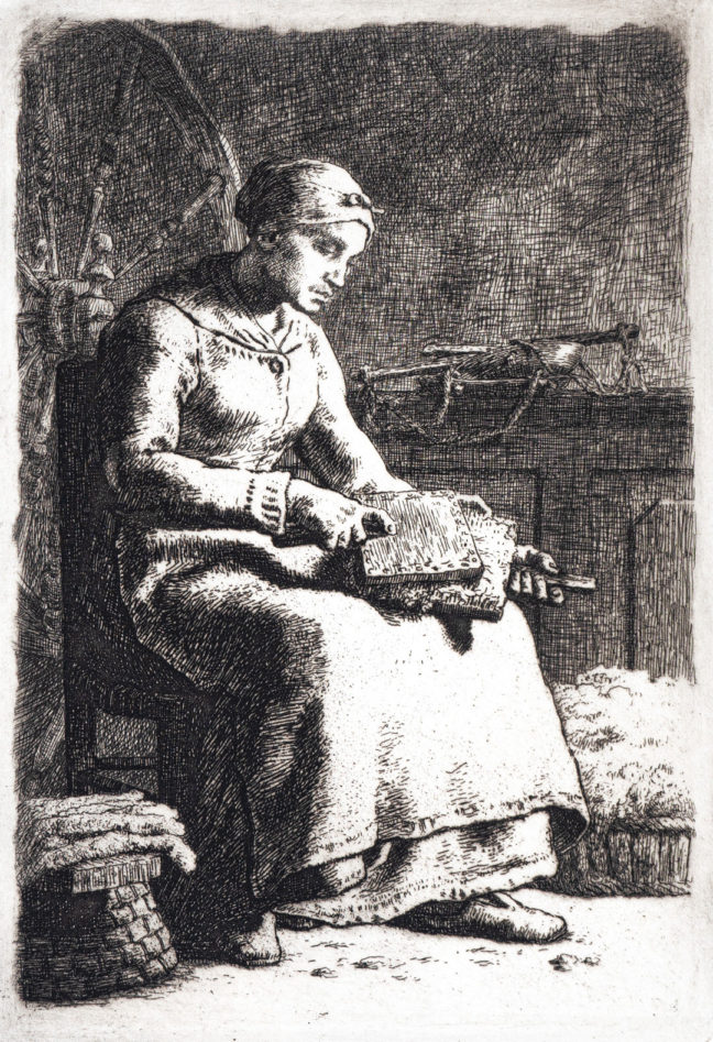 <p>Jean-François Millet,&nbsp;<em>La Cardeuse (The Woolcarder),&nbsp;</em>1855-1856. Etching on laid paper. Henry Art Gallery Stimson Collection, gift of Dorothy Stimson Bullitt, 77.129.</p>