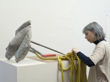 <p>Martha Friedman. (U.S., born 1975). Untitled. 2018. Concrete, rubber, and steel. Photo credit: John Berens. Courtesy of the artist.</p>