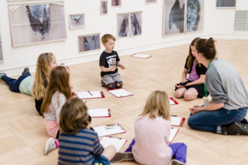 <p>Young guests at the 2015 Arty Party. Photo credit: Jonathan Vanderweit.</p>