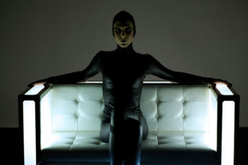 <p>Michelle Handelman. <i>Irma Vep, The Last Breath</i> [production still: Laure Leber]. 2013. 4-channel video installation (color, sound); 37:00 minutes. Image courtesy of the artist.</p>
