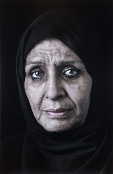 <p>Shirin Neshat (U.S., born Iran 1957). <i>Ghada. </i>2013. Inkjet print. Henry Art Gallery, gift from the Robert Rauschenberg Foundation, 2015.154. © Shirin Neshat Courtesy Gladstone Gallery, New York &amp; Brussels.<br /></p>