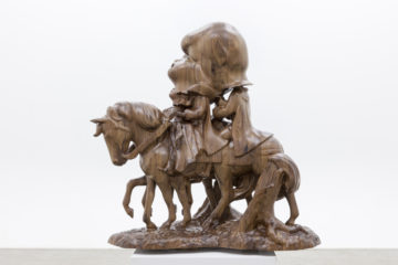 <p>Paul McCarthy.&nbsp;<em>White Snow and Prince on Horseback.</em> 2012. Black walnut. Image courtesy of Paul McCarthy and Hauser & Wirth. Photo: Walla Walla Foundry.</p>