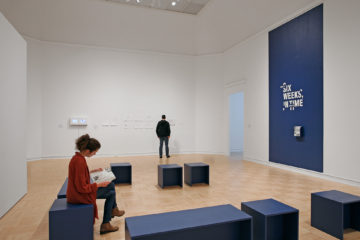 <p><i>Six Weeks, In Time </i>[installation view]. 2016. Henry Art Gallery, University of Washington, Seattle. Photo credit: Mark Woods.</p>