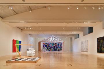 <p>Gary Simmons. Installation view of <i>Gary Simmons: The Engine Room</i>, 2021, Henry Art Gallery, University of Washington, Seattle. Photo: Jonathan Vanderweit.</p>