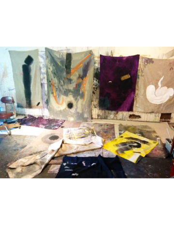 <p>The studio of Kristan Kennedy. Image courtesy of the artist</p>