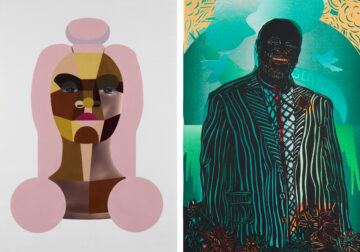 <p>Images:&nbsp;Derrick Adams, <em>Style Variation 14, </em>2019. Acrylic paint on digital photograph inkjet on watercolor paper. Courtesy of Salon 94 LLC, New York.&nbsp;Barbara Earl Thomas, <i>Gentleman</i>, 2021. Paper cut with hand printed color. Courtesy of the artist and Claire Oliver Gallery, New York. Photo: Zocalo Studios ~ Spike Mafford.</p>