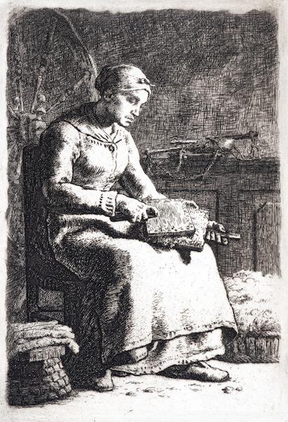 Jean-François Millet, La Cardeuse (The Woolcarder), 1855-1856.