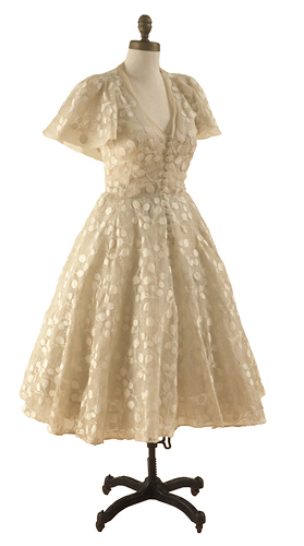 Christian Dior, Woman's embroidered organdy dress