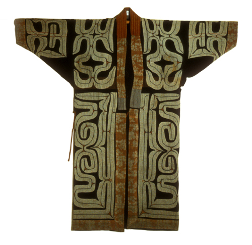 Embroidered Ainu robe