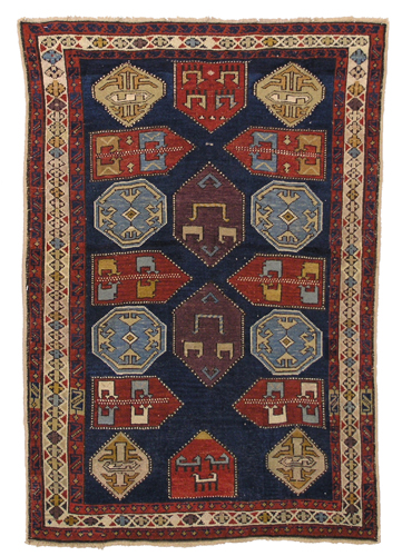 Knotted pile rug